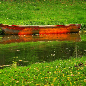 The red boat by Victor Pavel - Transportation Boats ( ... )