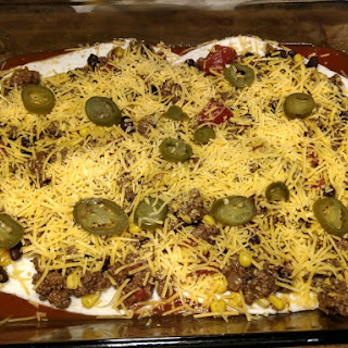 Tortilla Layered Mexican Casserole.