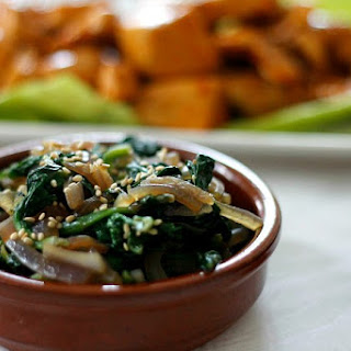 Simple Korean Style Spinach