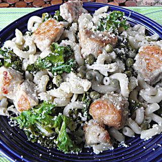 Pork Piccata with Kale & Lemon Sauce