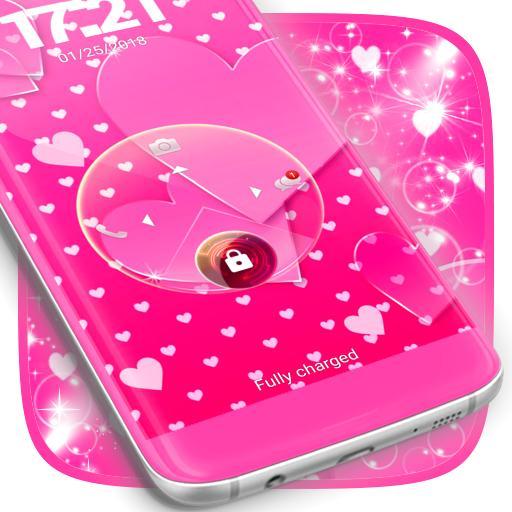 Pink Love Lock Screen