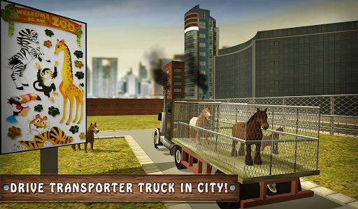 Wild Horse Zoo Transport Truck Simulator Game 2018  screenshots 11