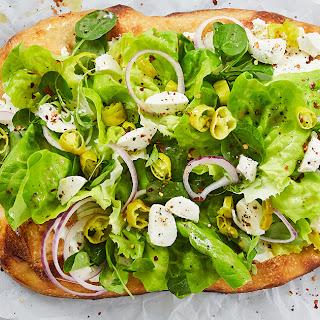 Chopped Italian Salad Pizza.