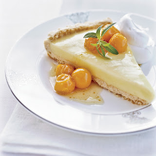 Lemon Verbena Tart with Cape Gooseberry Compote Recipe