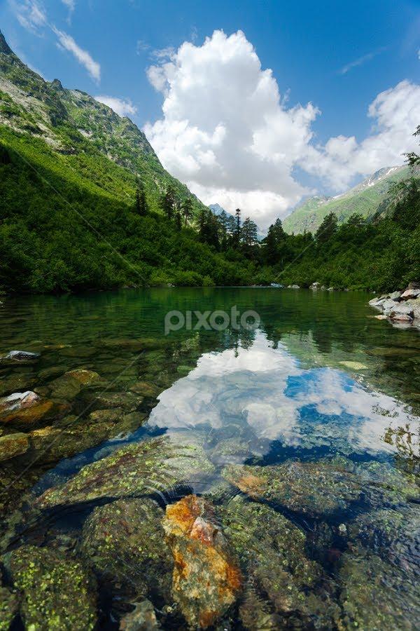 Badukskoe Lake by Artem Sapegin - Landscapes Waterscapes