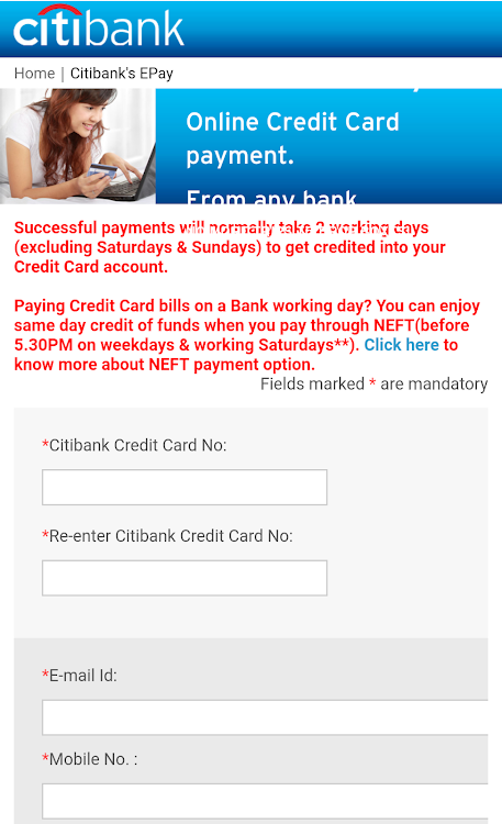 Citibank Credit Card Payment Online >> Credit Card Bill Pay Android Sovellukset Appagg