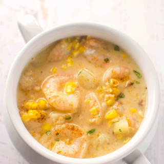 Slow Cooker Cajun Corn and Shrimp Chowder.