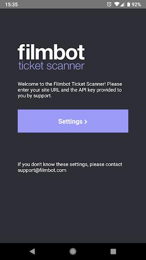 Filmbot Ticket Scanner screenshots 2