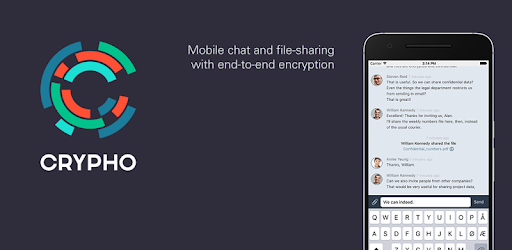 Crypho is enterprise mobile chat and file-sharing with end-to-end encryption.