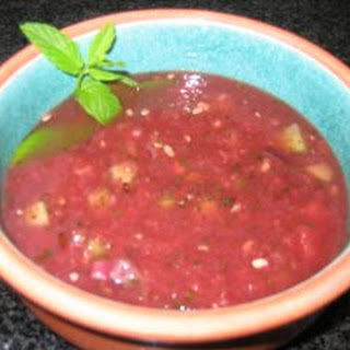 Watermelon And Mint Cold Soup
