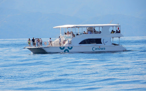 A sightseeing boat in the waters of Puerto Vallarta, Mexico.