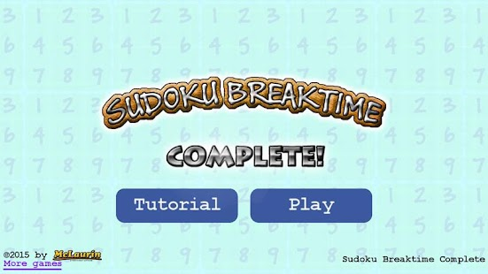 Sudoku Breaktime Complete- screenshot thumbnail