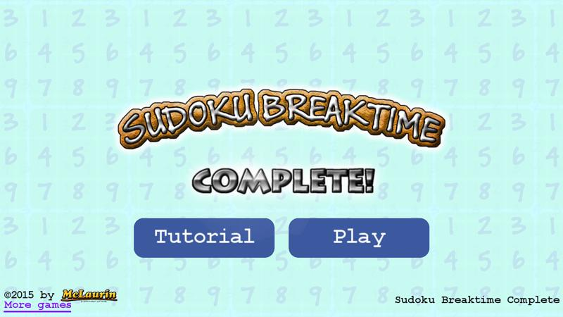 Sudoku Breaktime Complete- screenshot