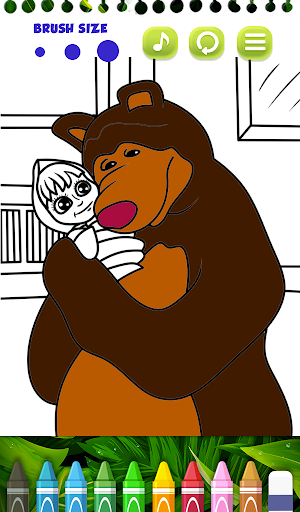Masha Bear - Masha and The bear Coloring games 1.0 screenshots 5