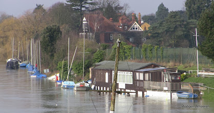 Photo: AQSC flooded moorings and club Sun 9 February