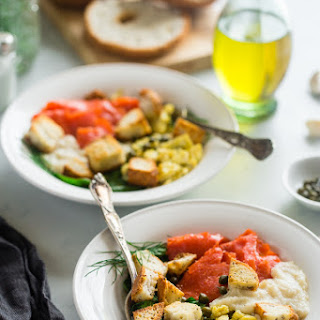 "Cauliflower Alfredo ""Lox Bagel"" Breakfast Bowls"