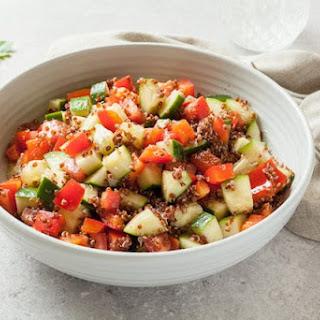 Apple Cider Vinegar Veggie Quinoa Salad Recipe