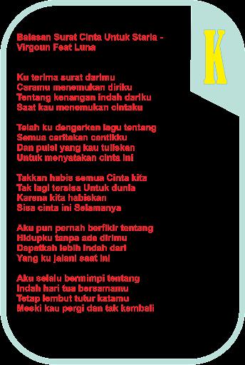 Download Lagu Surat Cinta Untuk Starla Lirik : download, surat, cinta, untuk, starla, lirik, Puisi, Surat, Cinta, Untuk, Starla