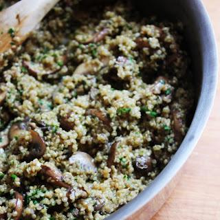 One-Pot Quinoa and Mushrooms.