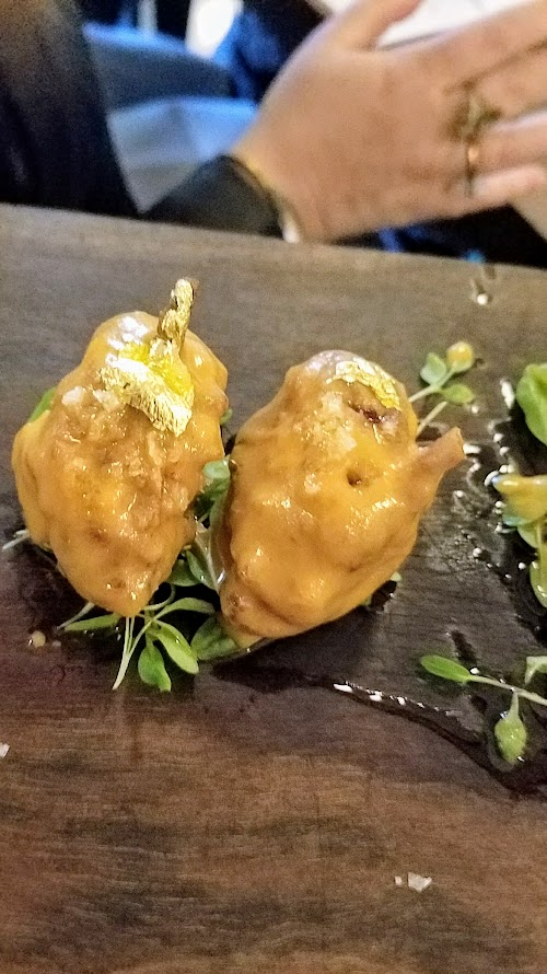 Chefs Week PDX 2017 Heritage Dinner at Chesa on May 7, Snacks, Haitian chicken lollipop by Gregory Gourdet