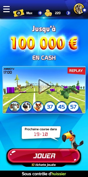 Animoloto, jusqu'à 100 000 € par heure ! Android App Screenshot