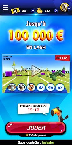 Animoloto, jusqu'à 100 000 € en jeu chaque heure ! Android App Screenshot