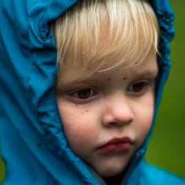 Introspective by Deborah Murray - Babies & Children Children Candids ( spring, green, toddler, blue, outdoors, park, child,  )
