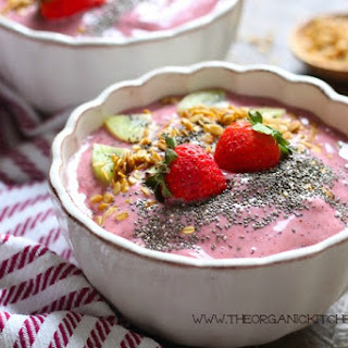 Strawberry Smoothie Bowls with Chia.