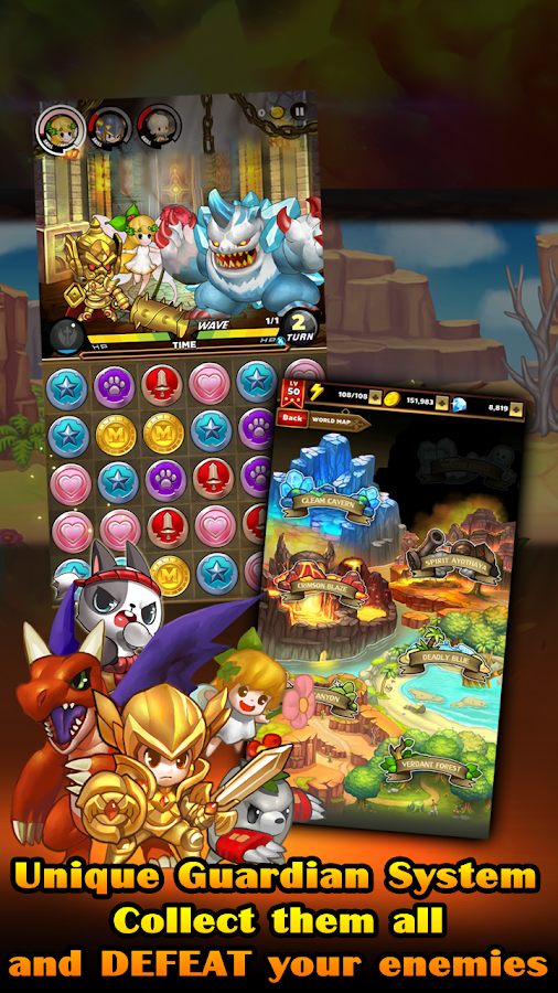 Screenshots of Puzzle Guardians for iPhone