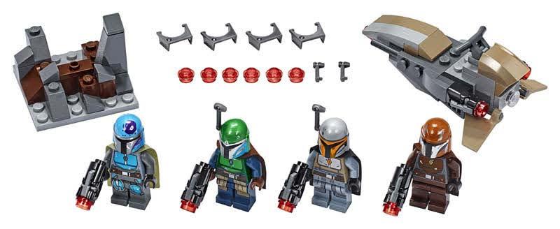 Contenido de Lego® 75267 Pack de Combate: Mandalorianos