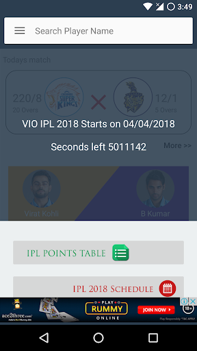 Download VIVO IPL 2018 Live Scores & Updates Google Play softwares