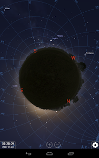 Stellarium Mobile Himmelskarte Screenshot