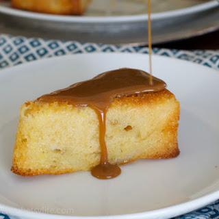 Pear Cake with Caramel Sauce