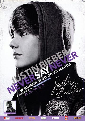 Przód ulotki filmu 'Justin Bieber: Never Say Never'
