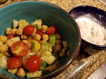 Greek Chick Pea Pita Filling and Yogurt Sauce