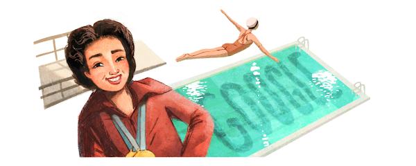 """Google Doodle celebra a la buceadora y entrenadora filipino-estadounidense Victoria """"Vicki"""" Draves"""