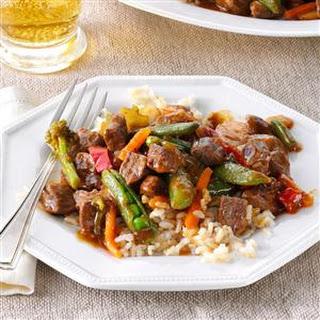 Stir-Fried Steak & Veggies.