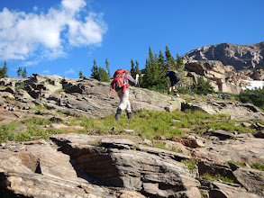 Photo: Heading for Lion Lake Number Two. Photo by Bill Walker
