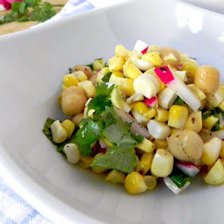 Grilled Corn, Bean and Radish Salad Recipe