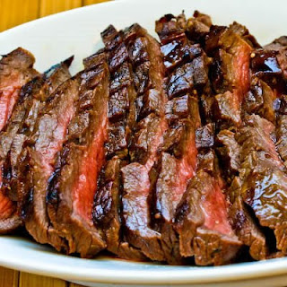 Marinated and Grilled Flank Steak.