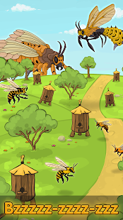 Angry Bee Evolution - Idle Cute Clicker Tap Game Screenshot