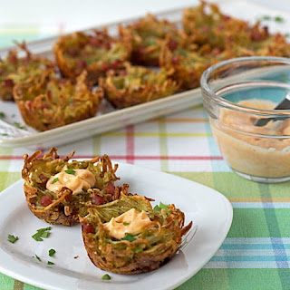 Shredded Potato Nests with Spicy Aioli