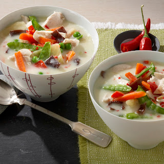 Spargelcremesuppe Asia-Style