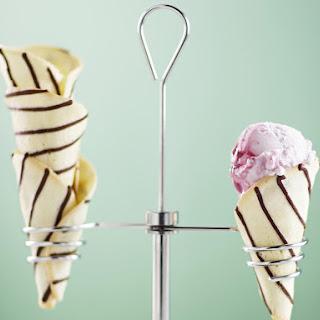 Chocolate Striped Ice Cream Cones