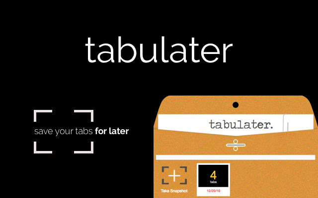 TabuLater - Save Open Tabs With One Click