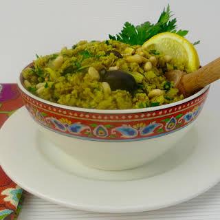 Mediterranean Cauliflower Rice Pilaf.