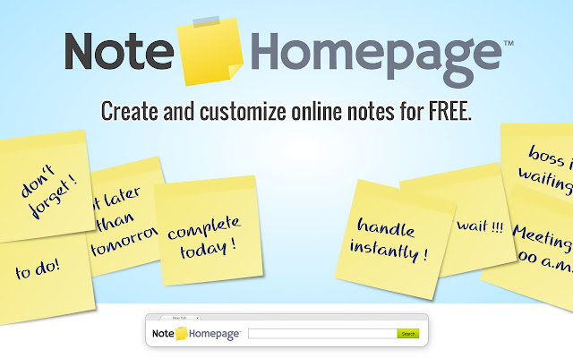 NoteHomepage