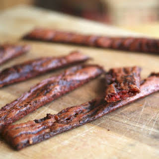 """Veggie-Based, Gluten Free,  Soy Free """"Beef"""" Jerky."""