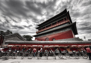 Photo: 鼓楼 Copies of the Rickshaws at the ancient temple Gǔlóu...  Sometimes a copy is just a way for someone to transport themselves from one place to another... some day, perhaps, they will arrive at your home with an offering…  from Trey Ratcliff at http://www.StuckInCustoms.com - all images Creative Commons Noncommercial