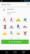 Knights of the Zodiac Stickers for whatsapp 1 0 latest apk